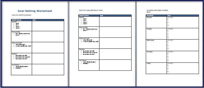 Smart Goal Setting Worksheet. Worksheets. Reviewrevitol Free