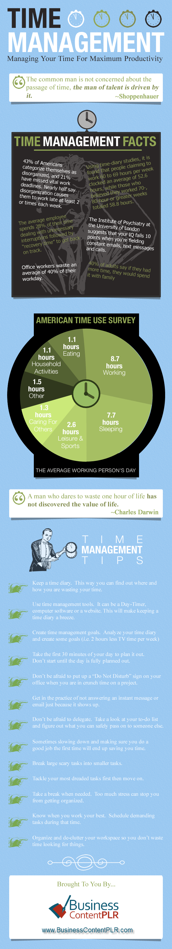 Time Management Tips – Infographic
