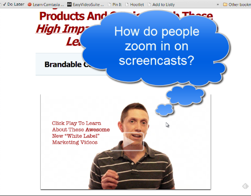 How to Zoom in on Screencasts