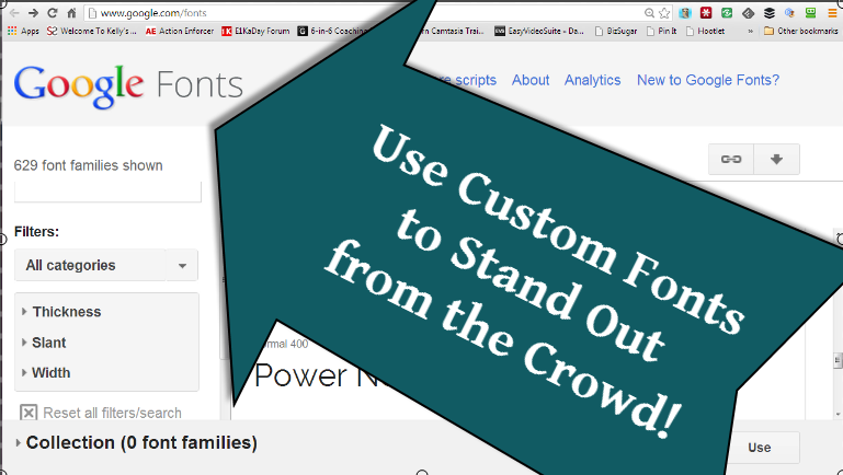 Content Quickie: How to Use Google Fonts to Customize Your Content
