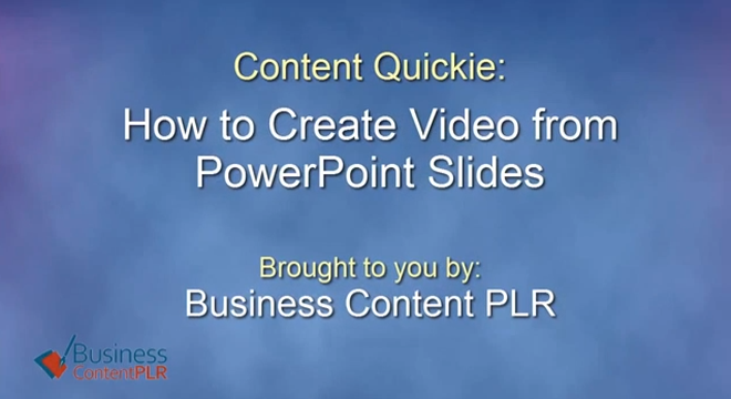 How to Use PowerPoint Slides to Record Video