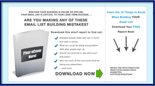 10 Days of List Building Madness - Opt-In Page