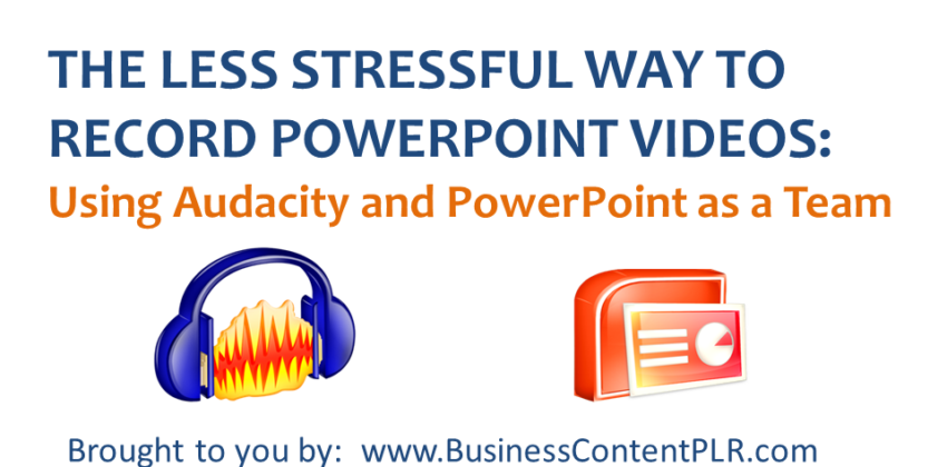 Less Stressful Video: How to Insert Your Audio to Slides