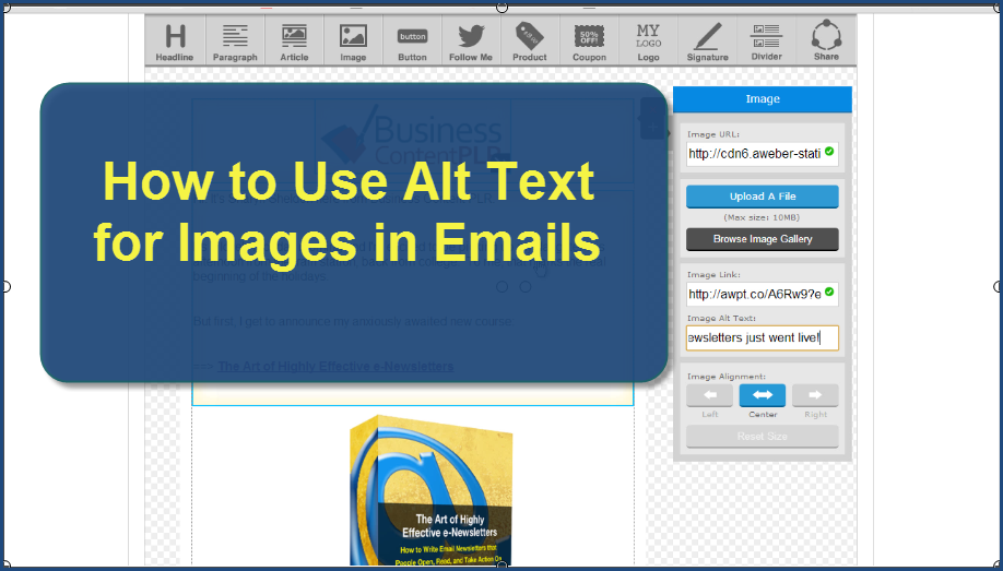 How to use alt text for images in emails