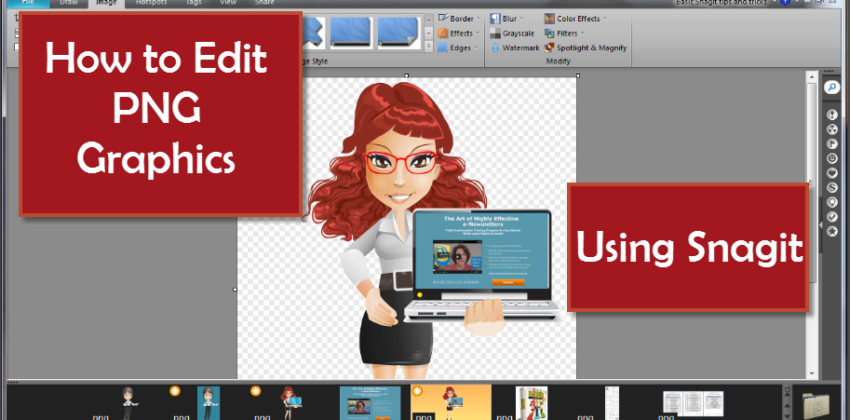 How to Edit PNG Graphics Using Snagit