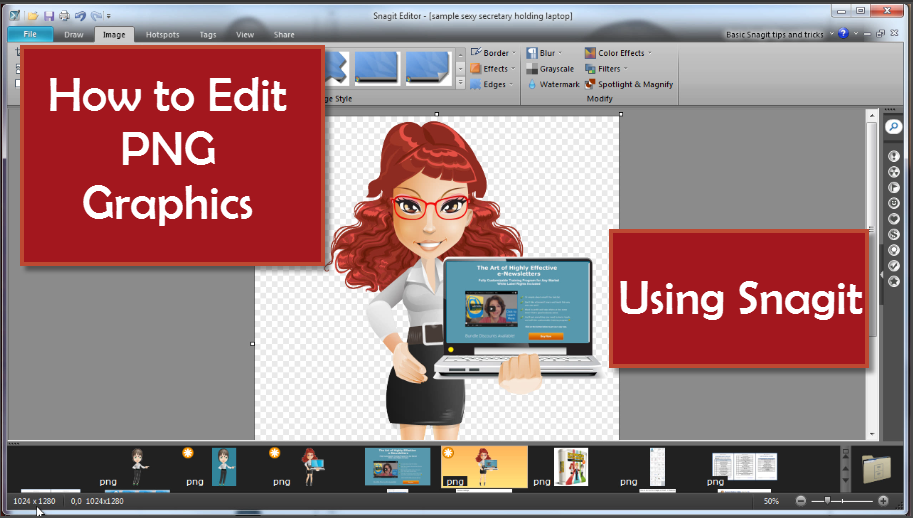How to Edit PNG Images and Graphics with Snagit