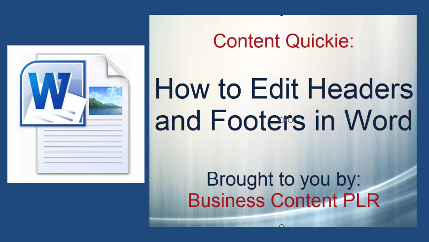 How to Edit Headers and Footers in Word