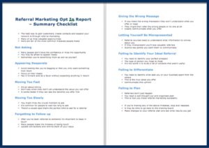 The Referral Marketing Machine - Opt In Checklist