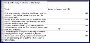 First Impressions Matter - Tweets