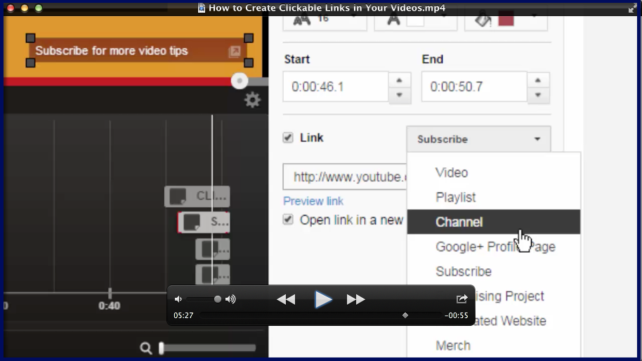 Video - How to Create Clickable Links in Your Videos
