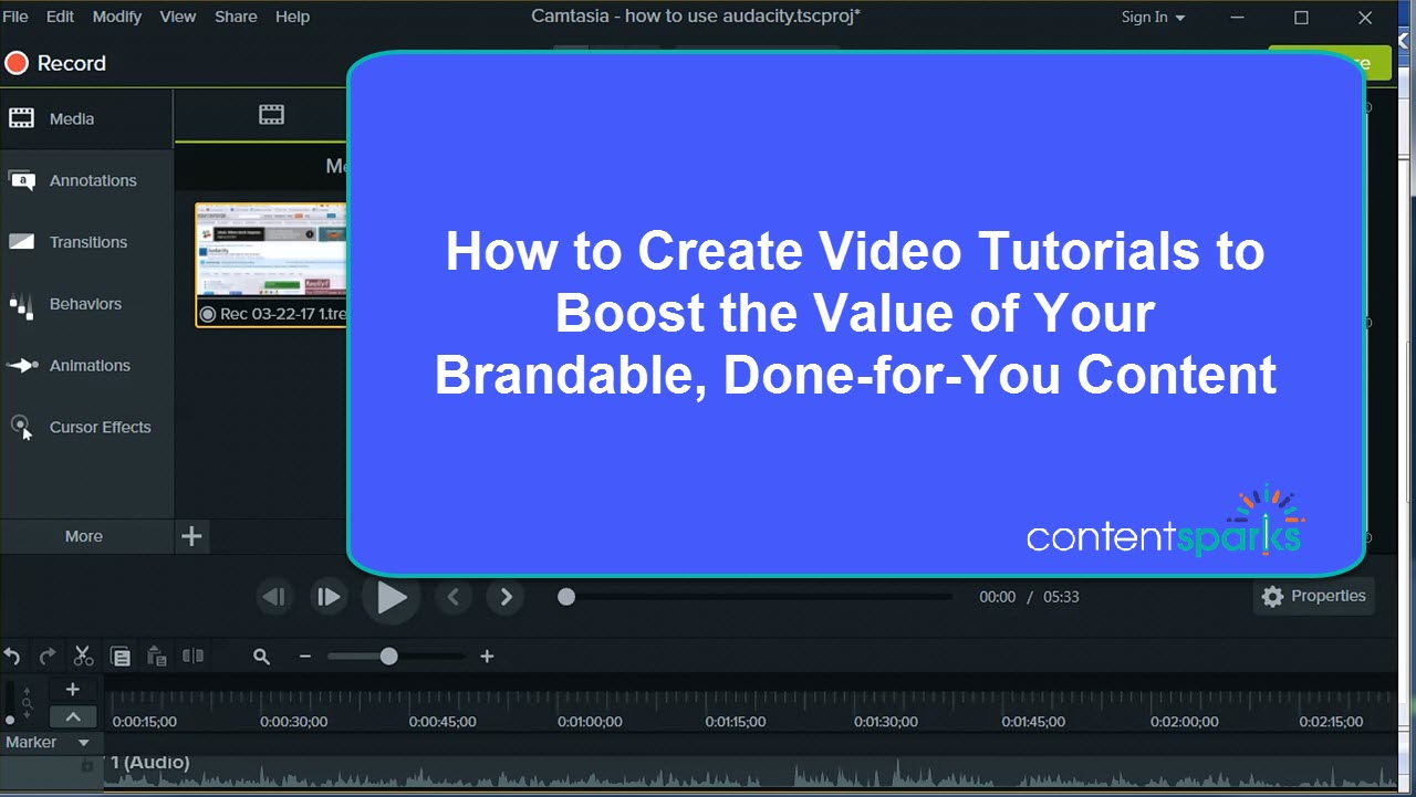 How to create video tutorials to add value to your plr