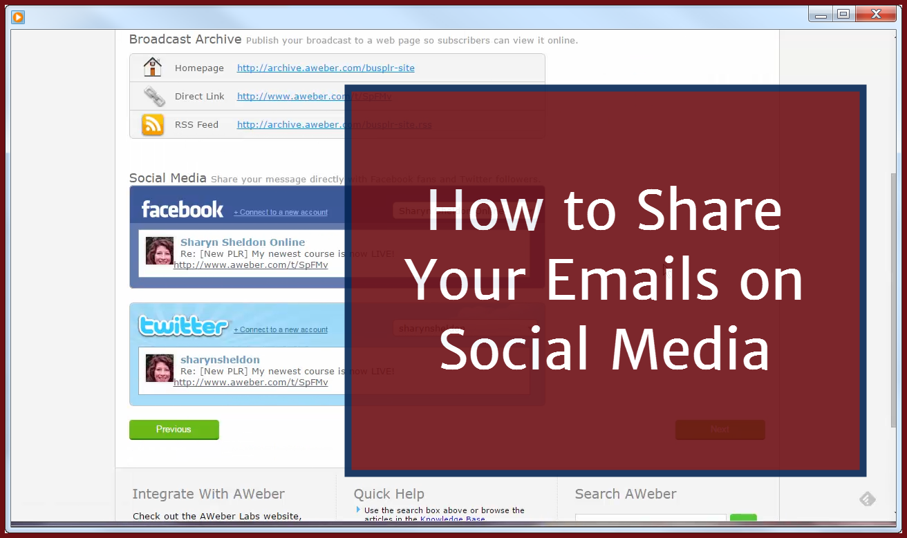 How to Share Your Emails to Social Media
