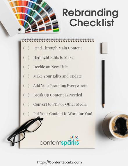 Checklist for branding content