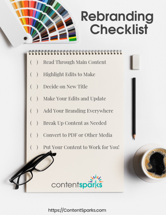Rebranding your PLR content - checklist