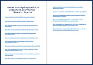 Psychographics_ResearchSources