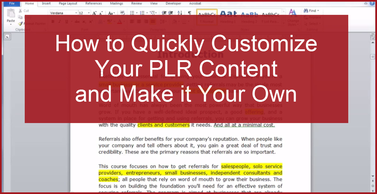 How to Quickly Customize Your Content