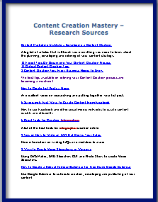 Content Creation Mastery - Research Sources