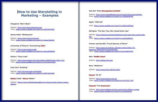 Storytelling in Marketing Examples