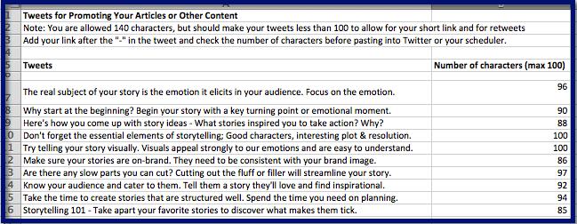 Storytelling in Marketing Tweets