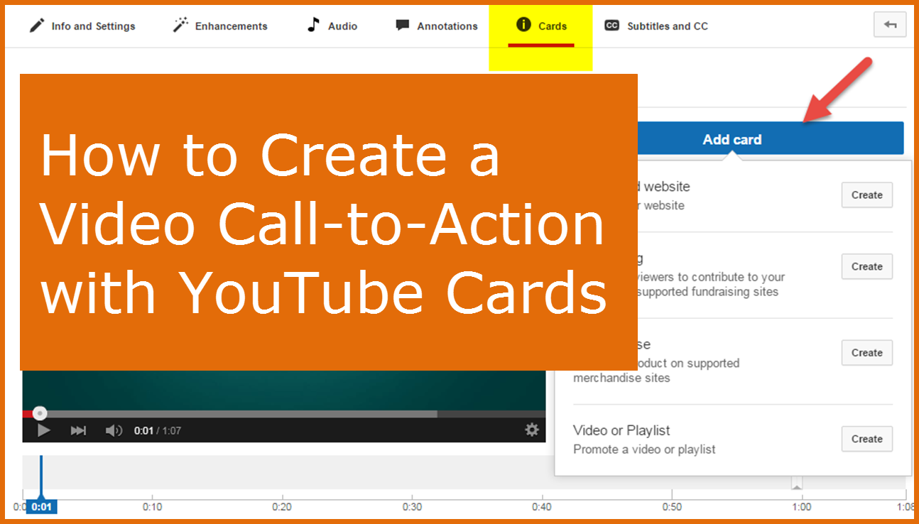 How to Create a Video Call to Action Using YouTube Cards