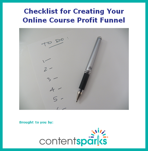 8-Point Checklist for Creating Your Online Course Profit Funnel