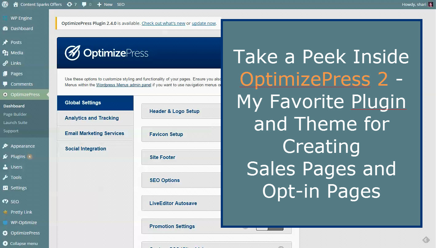 Demo of OptimizePress – My Favorite Tool for Sales Pages