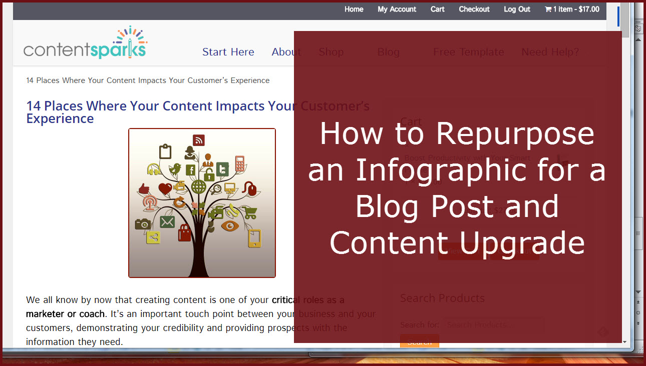 How to repurpose an infographic