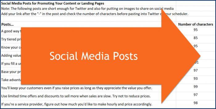 Profitable Pricing - Social Posts
