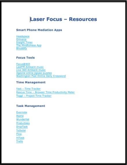 LaserFocus Resources 2