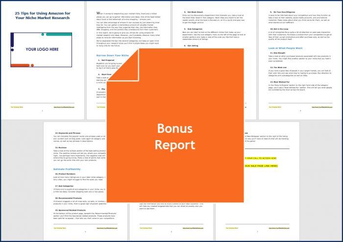 Niche Market Match - Bonus Report