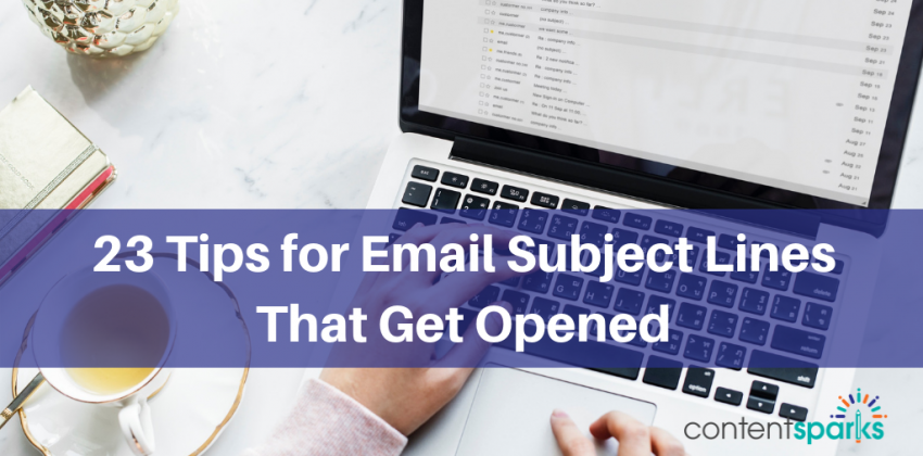 23 tips email subject lines