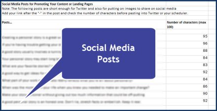 Personal Storytelling in Business - Social Media Posts