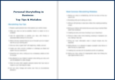 Personal Storytelling in Business - Tips & Mistakes