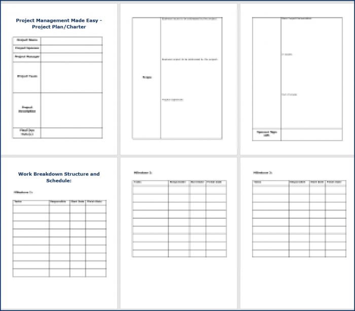 Project Management Made Easy - Project Template