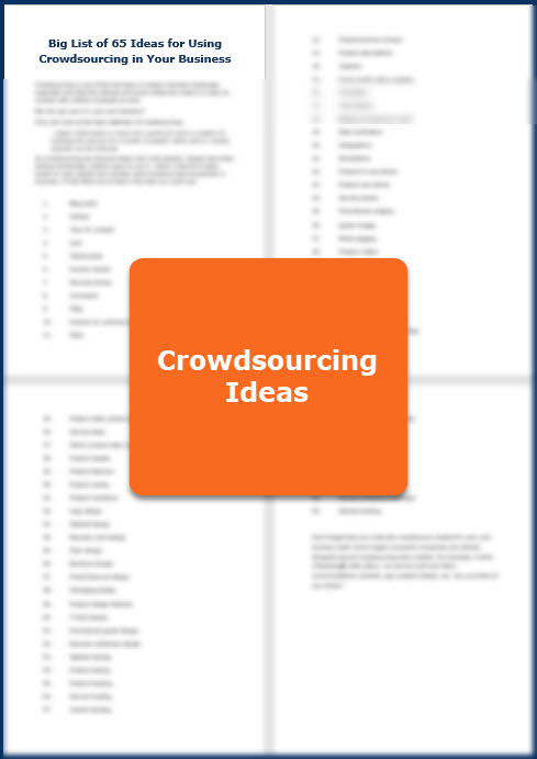 Crowdsourcing Essentials - Bonus List of Ideas