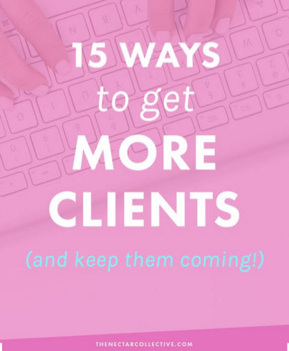 15 Ways to get more clients