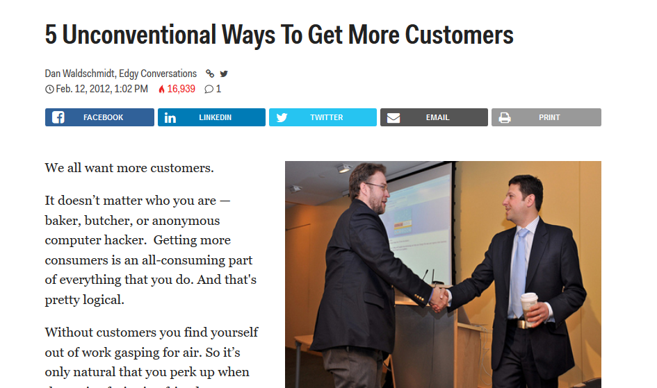 Unconventional ways to get more customers