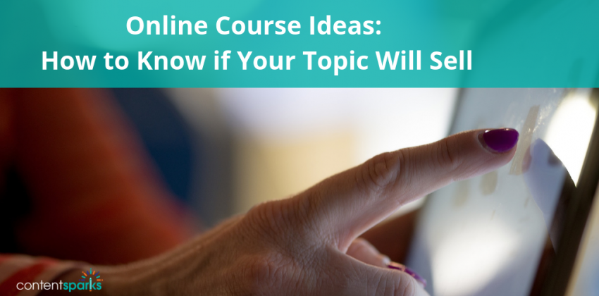 Will your online course idea sell?