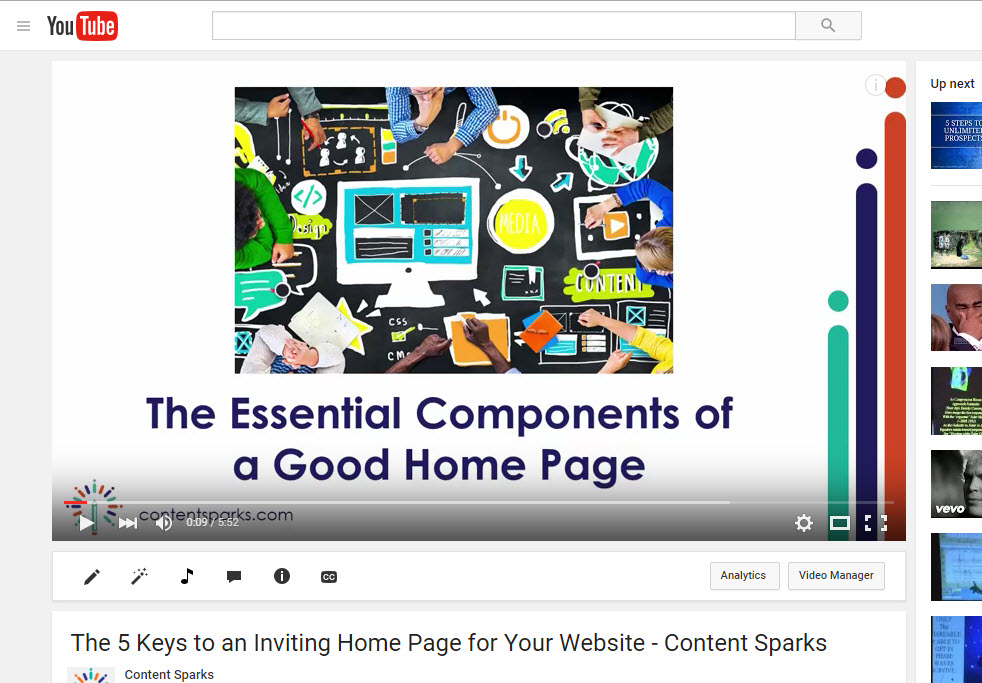 slideshow video example
