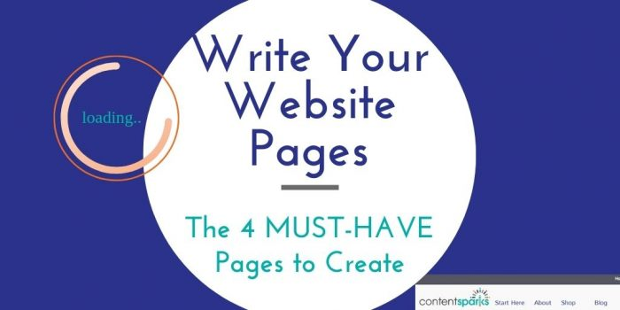 write your website pages