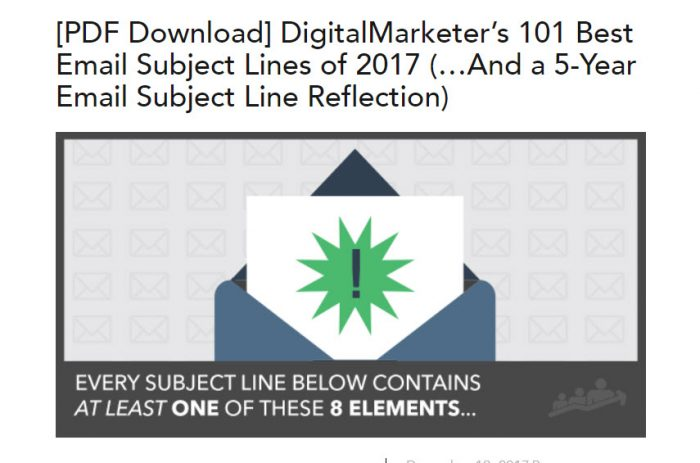Email Subject Line Examples