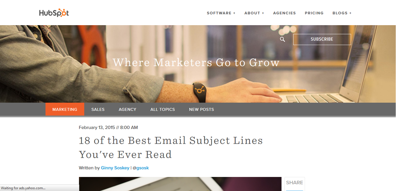 HubSpot - Best Email Subject Lines