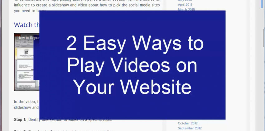 2 Easy Video Player Options for Your Website