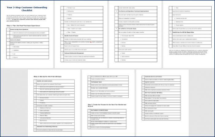 Customer Onboarding - Bonus Onbaording Checklist