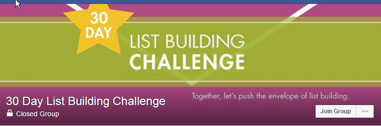 30 Day List Building Challenge