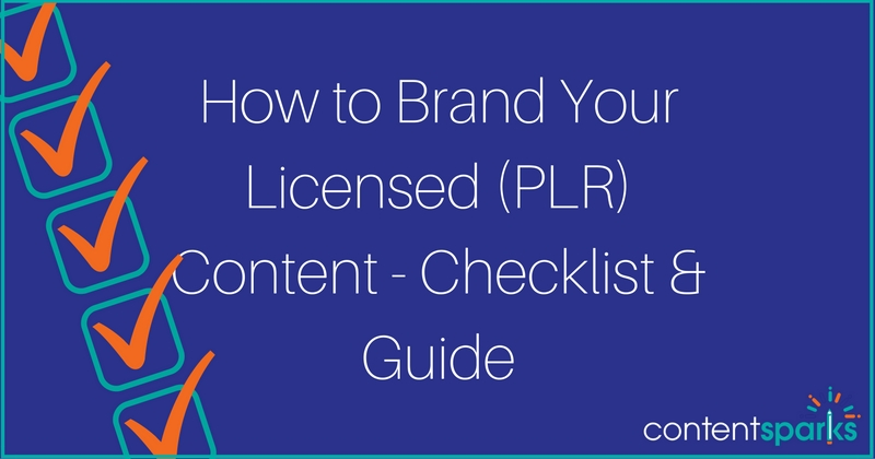 How to Brand Your White Label (PLR) Content – Checklist & Guide