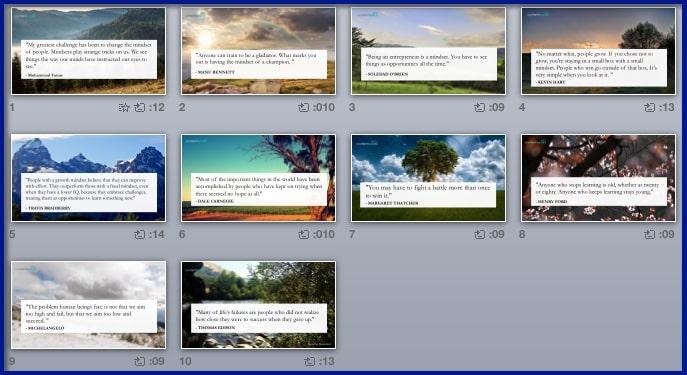 Success Mindset for Entrepreneurs - BONUS 2 - Inspirational Quotes Slideshow