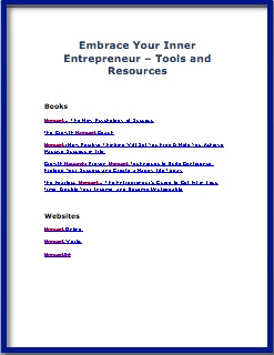 Embrace Your Inner Entrepreneur - Tools