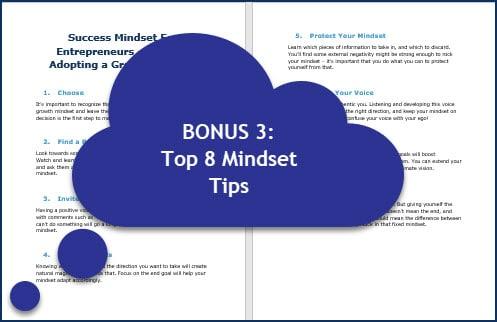 Success Mindset for Entrepreneurs - BONUS 3 Tips