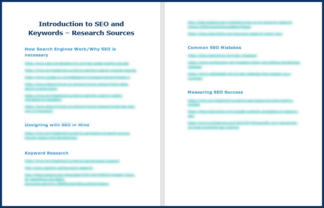SEOBasics - Research Sources